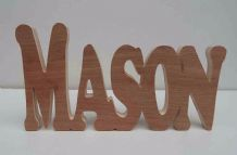 PERSONALISED WOODEN NAMES/WORDS/FREESTANDING/GIFT/HOME PRICE IS PER LETTER
